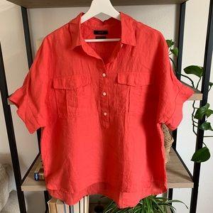 J. Crew Baird McNutt Irish Linen Popover Shirt L